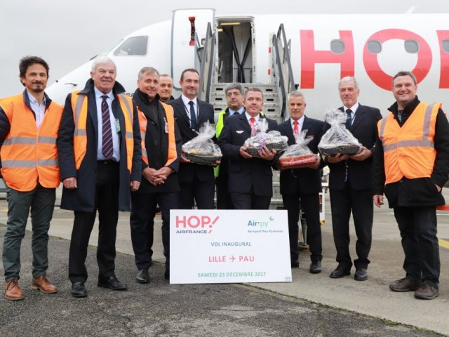 23 December : Opening of the new link Lille-Pau with Hop! Air France